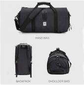 Bolso de lona grande para hombre y mujer, mochila de viaje con múltiples bolsillos.  Ideal para toda la familia. Para más descuentos y promociones, visita PromoDromo.