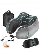 Kit de viaje incluye almohada para el cuello, antifaz para dormir y tapones para oídos. Para más descuentos y promociones entra a Promodromo