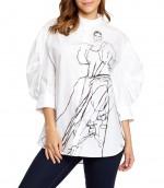 Camisa blanca para mujer Alexander McQueen. Para más descuentos y promociones, visita PromoDromo.