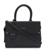 Bolso negro de piel Karl Lagerfeld en oferta. Para más descuentos y promociones, visita PromoDromo.